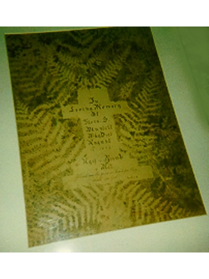 Memoria Card to Flora Blundell
