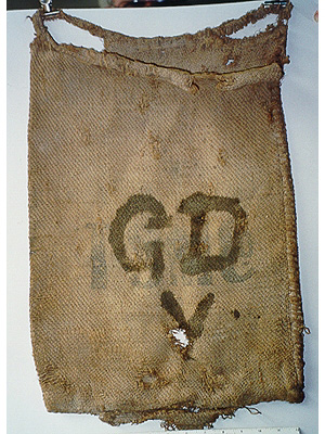 Hessian bag to transport silver ore
