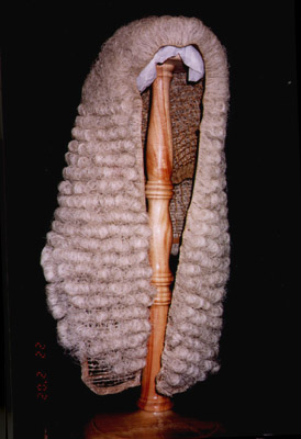 Wig worn by the Speaker of the NSW Legisative Assembly