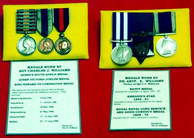 Sgt. CJ Williams and E Williams campaign medals