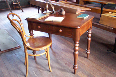 Cedar teacher's desk