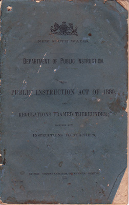 Public Instruction Act of 1880 & Regulations