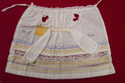 Apron Needlework Sampler