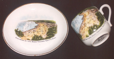 Redcliffe souvenir cup and saucer