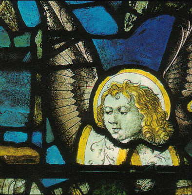 Angel head in Stained Glass