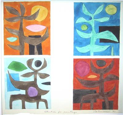 Studies for paintings