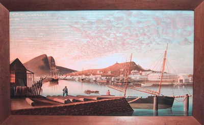 Townsville (painted from Evans Deakin Slipway, Ross Creek)