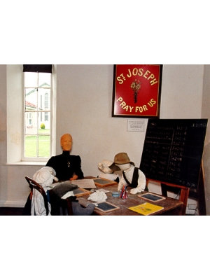 Woods MacKillop Schoolhouse - Schoolroom display