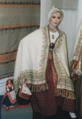 Costume from Latgale region, Latvia