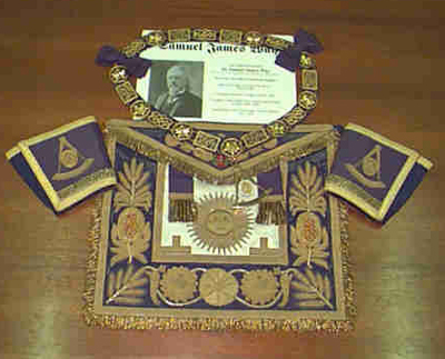 Sir Samuel J. Way's masonic apron
