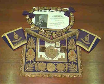Sir Samuel J. Way's masonic apron
