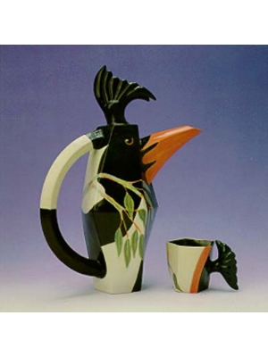 White backed magpie coffee set