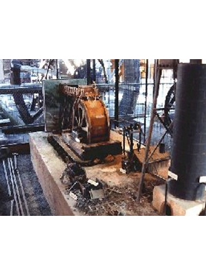 """A twelfth-scale model of th 1873 """"Ilfracombe"""" iron smelter"""