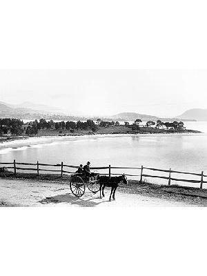 """Long Beach, Sandy Bay, Hobart (""""Sandy Bay Beach"""")"""