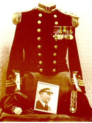 Naval Dress Uniform and Medals.