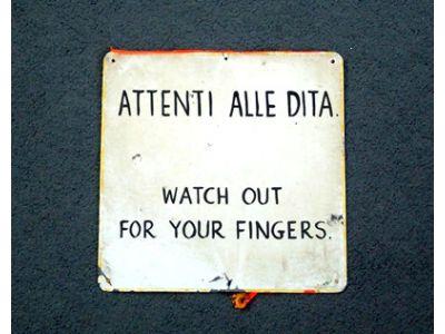 Attenti alle Dita