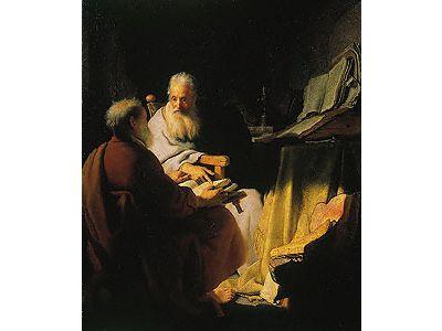 Two Old Men Disputing (Peter and Paul)