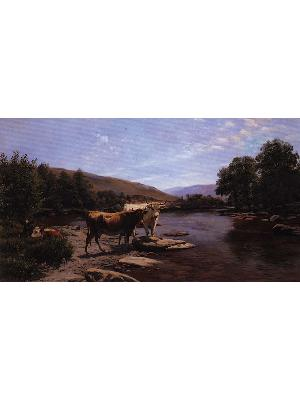 A placid morning on the Wye 1890