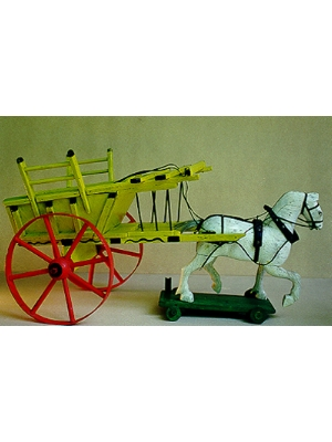 Toy Wooden Horse and Cart