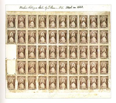 Victoria: 2d Queen-on-Throne proof sheet