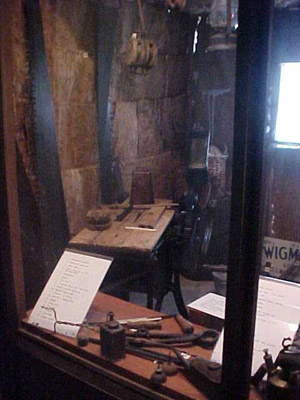 Settlers' Tools (in replica shed)