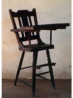 Hand made child's high chair
