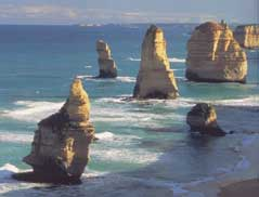 The Twelve Apostles on Victoria's famous Great Ocean Road.