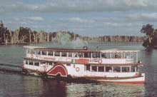 The paddlesteamer 'Melbourne' plies the Murray River.