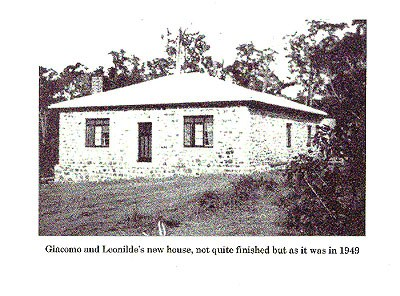 Giacomo and Leonilde's new house, 1949.