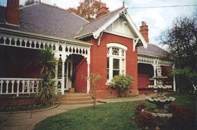 Holland family home (house built 1893) where quilt was made. Castlemaine, Victoria