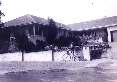 The Gavens home, where quilt was made. 1964