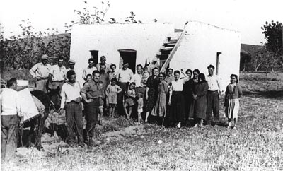 People of the village of Sikea early 1950's. Maria is 7th from right, Eleni is 3rd from right.