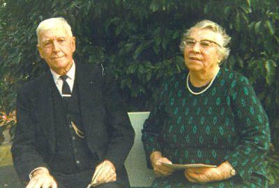 Dulcie and Jack Tobin, 1974, their diamond wedding anniversary
