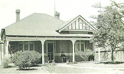 The family home at Mt. Lawley where the quilt was made.