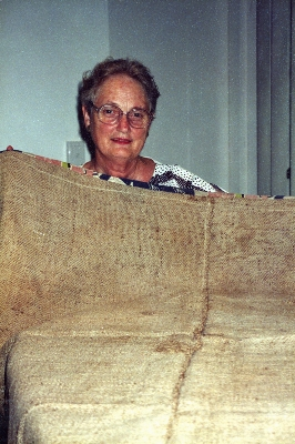 Muriel Hartmann with Wagga