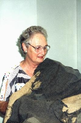 Muriel Hartmann with domestic Wagga