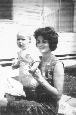 Barbara McCabe with Michael as a baby