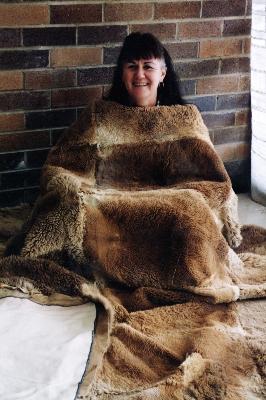 Julie Treacy and rug
