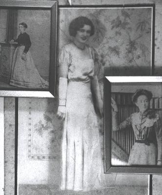 Rt: Ellen Knight c.1905, Centre: Alice Keage c.1932, Lt: Eliza Worth