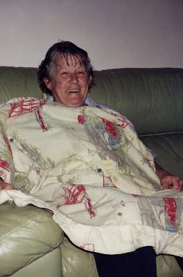 Quilt maker Irene Pascoe