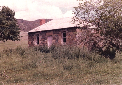 Remains of cottage built by William Weir c.1880