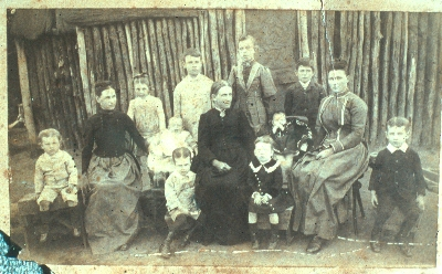 Julia Jeffries (centre in black) with the immediate family, Ournie NSW