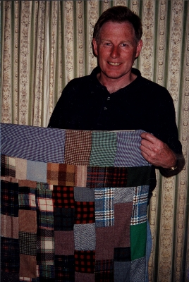 Kenneth with his school rug, March 2000