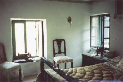 A bedroom in the Katakouzinos house in Kaminia, Lemnos