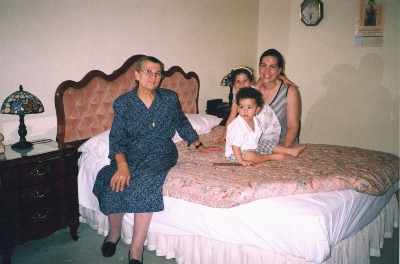 Stavroula with daughter-in-law Stamatina and Ilia and Phoebus 2001,