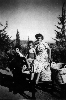 Stavroula going to the fields, Cyprus 1950s