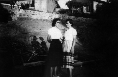 Stavroula (right) and her sister Chrystala, Cyprus 1959