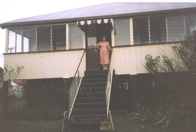 Connie Papalazaros at her Brisbane house, 2000