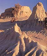 Mungo National Park has evidence of 30,000 years of human life.